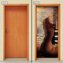 Adesivo Decorativo De Porta - Música - Guitarra - 069mlpt