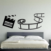 Adesivo Decorativo De Parede Claquete - Fita De Cinema