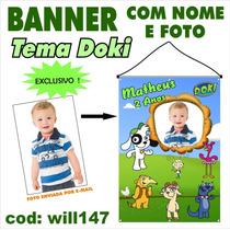 Banner Fotografico Em Lona Digital - Cachorro Doki Will147