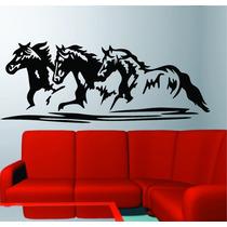 Adesivo De Parede Quarto Sala Cavalos Cowboy Rodeio Animais