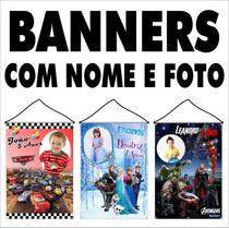Banner De Parabéns Personalizado Com Foto Impresso Em Lona