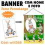 Banner De Aniversário Decorativo Coelho Pernalonga Will368