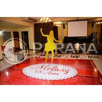 Adesivo Para Pista De Dança 3x3 Mt   Casamento   15 Anos  