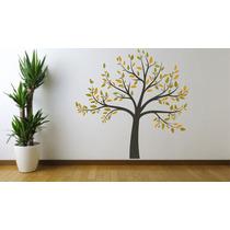 Adesivo Decoração Parede Sala Árvore Galhos Folhas Floral