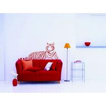 Adesivo Decorativo Parede Tigre Animais Sala Quarto Cozinha