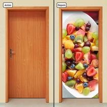 Adesivo Decorativo De Porta - Salada De Frutas - 345mlpt