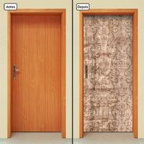 Adesivo Decorativo De Porta - Madeira - 474mlpt