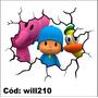Adesivo Decorativo De Parede Rachadura 3d Pocoyo Will210