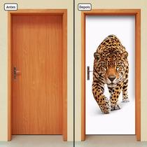 Adesivo Decorativo De Porta - Onça - Animal - 087mlpt