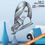 Adesivo Decorativo De Parede - Cabeleireiro Manicure - Cb-11