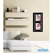 Adesivos Decorativo Porta Retrato Filme Vertical 2 Fotos