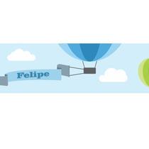 Faixa Decorativa - Border Balões - Personalizado Com O Nome
