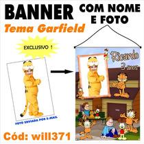 Banner Personalizado Fotografico 1x70 Gato Garfield Will371