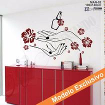 Adesivo Decorativo De Parede - Manicure Cabeleireiro - Man02