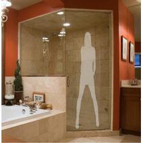 Adesivo De Parede Decorativo Jateado 1,80m Box Vidro Espelho