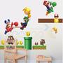 Kit Adesivos Decorativos De Parede - Super Mario Bros