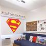 Adesivo Decorativo Escudo Superman - Tamanho Grande