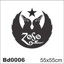 Adesivo Bd0006 Led Zeppelin Rock Decoração Parede
