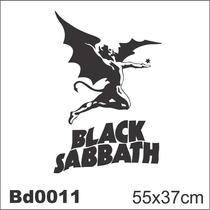 Adesivo Bd0011 Black Sabbath Rock Decoração Parede