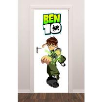Adesivo Porta Ben 10 Super Herói Quarto Criança Infantil