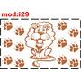 Adesivo I29 Leão Leãozinho Pegadas Pegadinhas Garras Patas