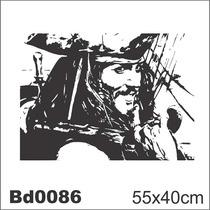 Adesivo Bd0086 Jack Sparrow Filme Decoração Parede
