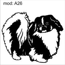 Adesivo A26 Cachorro Raça Pequenas Decoração Parede