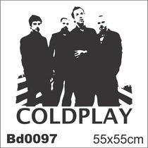 Adesivo Bd0097 Coldplay Integrantes Rock Decoração Parede
