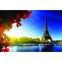 Auto Adesivo Decorativo Paris Torre Heiffel Rio Sena - 6m²