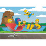 Adesivo Papel Parede Painel Quarto Hommer Bart Simpsons M03