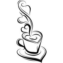 Adesivo Xicara - Grande Café, Coffe, Adesivo De Parede