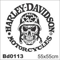 Adesivo Bd0113 Harley-davidson Moto Decoração Parede
