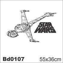 Adesivo Bd0107 Star Wars Nave Decoração Parede