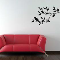 Adesivo Decorativo De Parede Floral Galho Pássaro