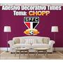 Adesivo Time De Futebol - Decorativo Tema Chopp - 80x90cm
