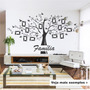 Adesivo Decorativo Árvore Com Fotos Genealógica Família