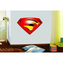 Adesivo Parede Quarto Infantil Criança Simbolo Super Homem