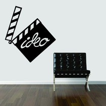 Adesivo Decorativo Parede Cinema Filme Claquete Video