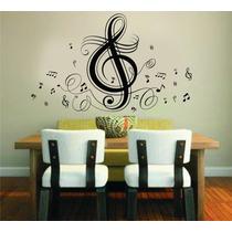 Adesivo Decorativo Parede Rock Música Notas Musicais Music