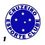 Adesivo Time Símbolo Cruzeiro Escudos Em Vinil