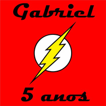 Pista De Dança Auto Adesiva Infantil Super Heroi Flash Nome