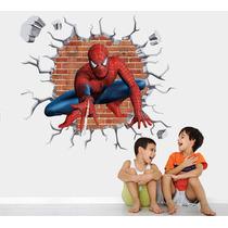 Adesivo Homem Aranha Infantil Papel Parede Herois Buraco M15