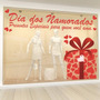 Adesivo De Vitrine Dia Dos Namorados Caixa De Presente