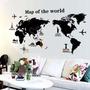 Adesivo Parede Mapa Mundi Decorativo Gigante - No Brasil