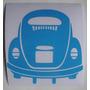 Adesivo Fusca Azul Wv Volkswagen