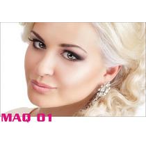 Adesivo Painel Poster Salao Maquiagem Make Up Maq01