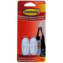 Gancho Command 3m P/utilidades Pequeno Adesivo 2pçs Plástico