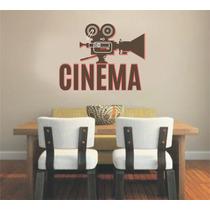 Adesivo Decoração Parede Cinema Projetor Claquete Filme