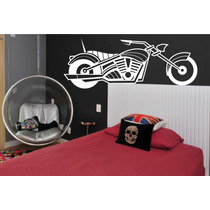 Adesivo Parede Moto Motocicleta Quarto Sala Decoração