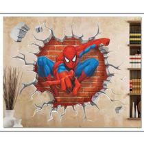 Adesivo Painel Papel Parede Infantil Homem Aranha Herois